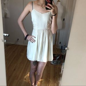 C52 Forever 22 Off White Lace Side Summer Dress
